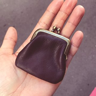 Leather mini mouth gold