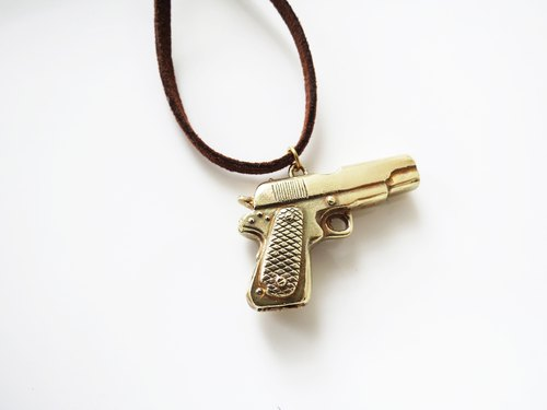 Pistol (Brass necklace) - Cpercent  handmade jewelry