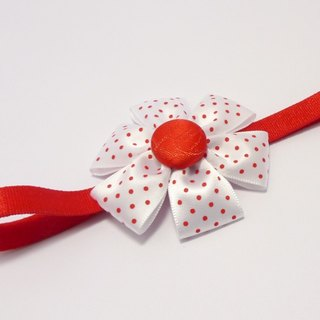 Little red flower baby headband (only one)