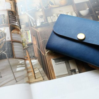 [Mini5] double-sided multi-function coin purse (blue)