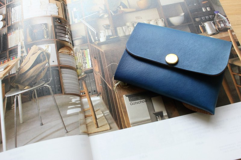 [Mini5] double-sided multifunction purse (blue)