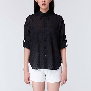 C80 Lucent Shirt Lightweight Cut Flower Loose Shirt