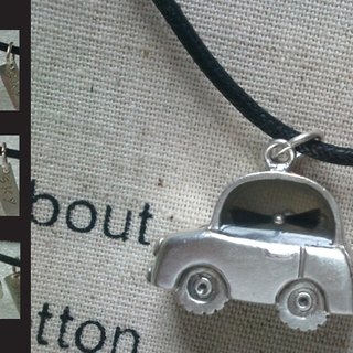Handmade 925 sterling silver necklace -mini lanugo car