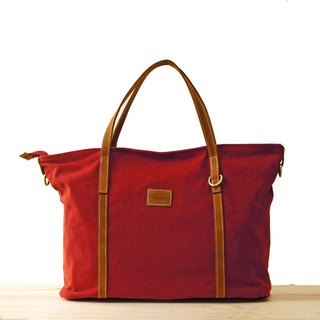 [Happa] generous canvas tote bag - stone-washed canvas classic (Wine Red Wine) exchange gifts Required