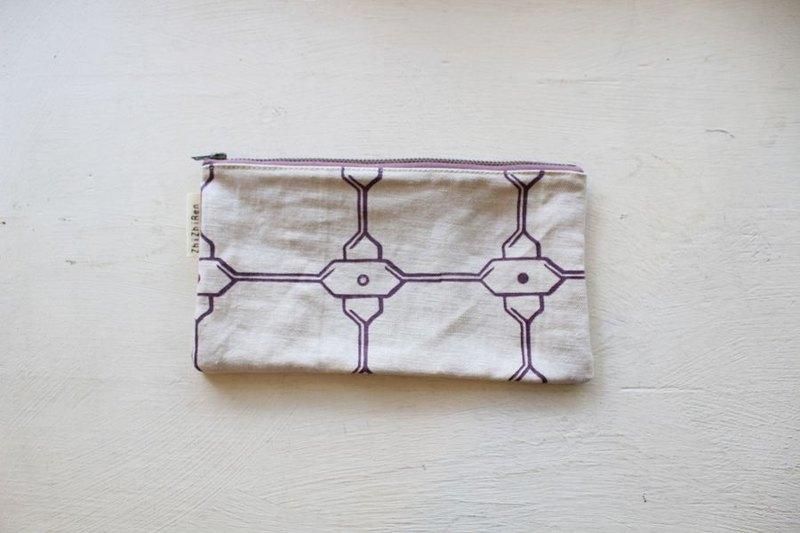 【ZhiZhiRen】厵 | 筆袋 - 鹽程鐵窗-紫