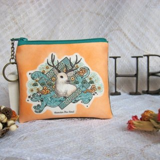 <Animals in the secret land> As the Deer coin purses (small size)
