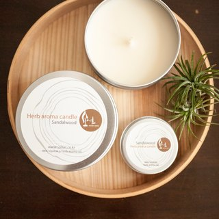 Sandalwood natural soy candles - natural soy tea light aluminum cans x x x Smoke - pure essential oils