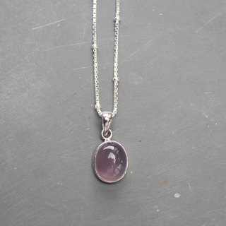 【Purple Chalcedony】 Earth Series sterling silver necklace