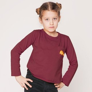 [Nordic children's clothing] organic cotton turtle long-sleeved T-shirt