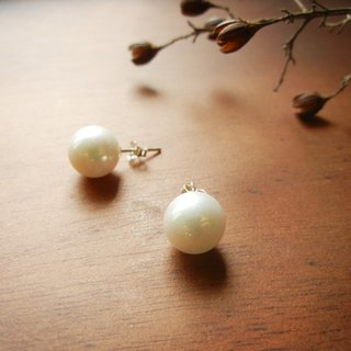 *Coucoubird*white pearl 925 silver earrings