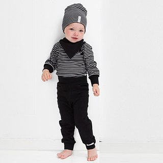 [Sweden] made of organic cotton cover Dudu Baby pants black (for 6M-24M) Infant