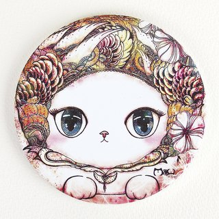 Good meow kawaii ka wa い い ~ ♥ hand-painted ceramic absorbent coasters terrifying cat