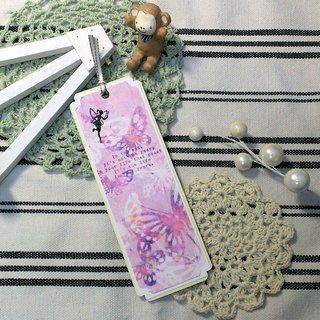 Bookmark handmade cards - Purple Butterfly Fairy (occupied / gifts)