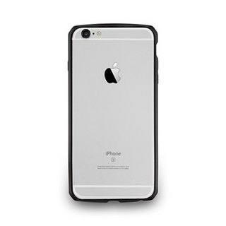 iPhone 6 Plus / 6s Plus- protected aluminum frame with carbon fiber pattern - black ink