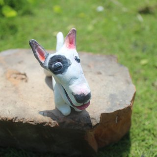 Bull Terrier custom handmade doll