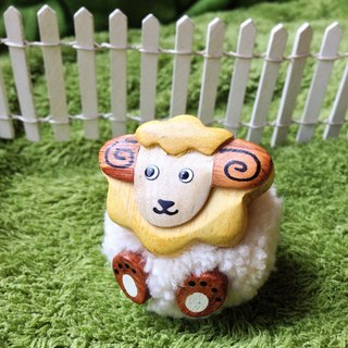 Handmade wooden [x] ♦ yarn Peng Peng gold lion sheep iron absorption