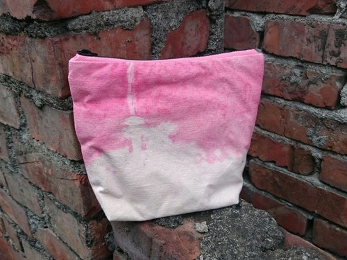 "6 "" hand-dyeing cosmetic bag debris personal items"