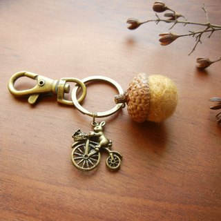 *coucoubird*Acorn fat strap / Variety of small brass ornaments