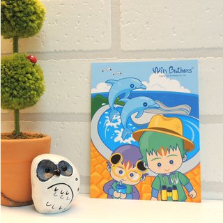 Two brothers postcards allowed (Ocean Adventure) WinBrothers PosterCard-Ocean World