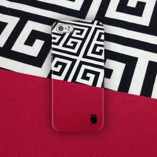 ▷ Umade ◀ Greek key in hot pink [iPhone7 (i7, i7plus, i6, i6s, i6plus, i6splus, i5se, i5s, i5c) / Android (Samsung, Samsung, HTC, Sony) Phone Case / Accessories - matte hard shell - artists] Jenn.Y