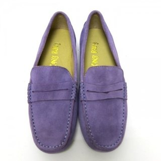 Fort Tony Wang handmade leather shoes (female) [matte / rubber-soled / purple]