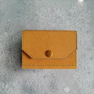 Business card holder . coin purse  (Tan) washable kraft paper  .paper leather