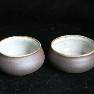 Stoneware cup one pair # 2048 # 2049