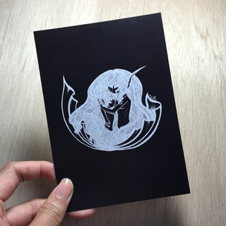 Pisces negative Postcards