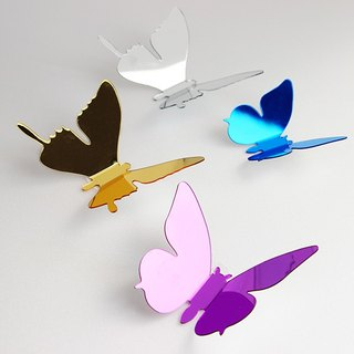 HomePlus 3D Crystal mirror Butterfly Acrylic Mirror 12pcs Wall Stickers Decoration