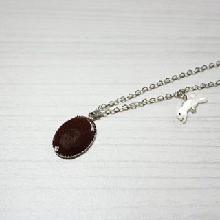 Chocolate enamel necklace