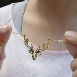 Deer, Geometric, Animal Necklace, Deer Jewelry, Animal Gifts, Gift for her