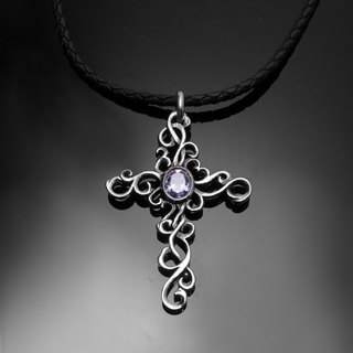 Provoke Reshi / Personality Diamond Cross / 925 Sterling Silver / Faith Gift