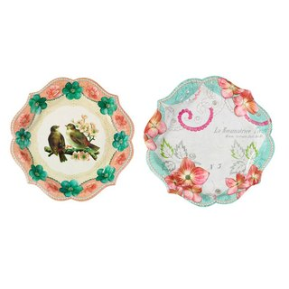 """Elegant Tea § paper plate"" British Talking Tables Party Supplies"