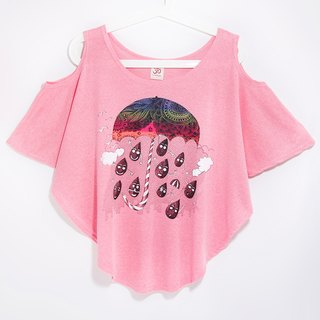 Women feel summer travel two wear T / dig shoulder strapless tops - a celebration of the rainy season (sun powder)