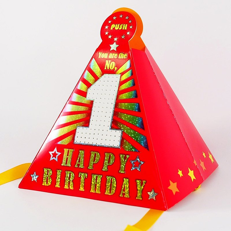 Birthday Box Card Hat Hallmark Three Dimensional Cardmusic