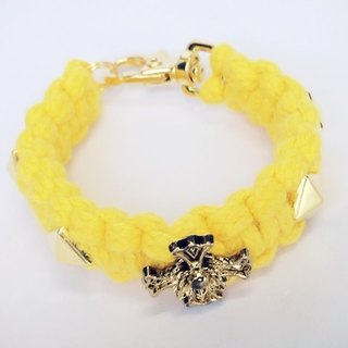 Yellow wild rose Cross d nail braid