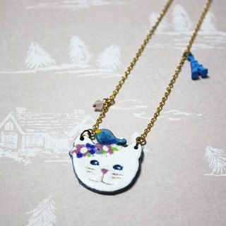 Travel Meow enamel long chain