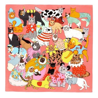 Fancy dress Cats silk scarf | Karen Mabon