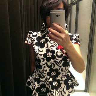 Angel Nina hand made custom improved cheongsam shirt
