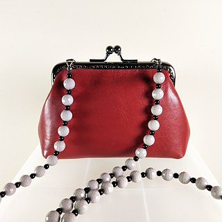 Red leather bag (mouth gold bag models)
