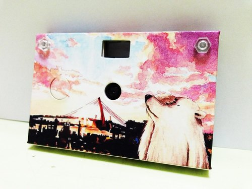 Paper Shoot paper creative paper camera can shoot digital camera Lomo retro 4GB SanDisk MicroSD memory card included four kinds of effects Taiwan brand (series Polar Bear - Freshwater Sunset)