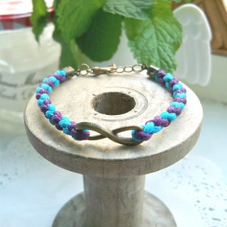 Infinity Weaving Bracelet - (Purple + Turk Blue)