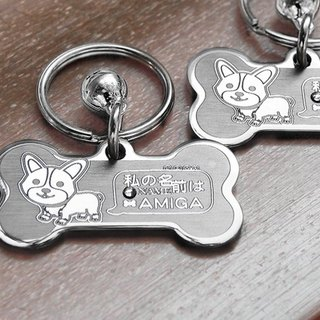 "Corgi [] ""Bone vs Round"" Exclusive Special Edition - Custom designer (6-color diamond) Anti-lost ◆ ◆ cute x"