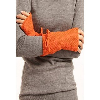 Cashmere Fingerless-Orange