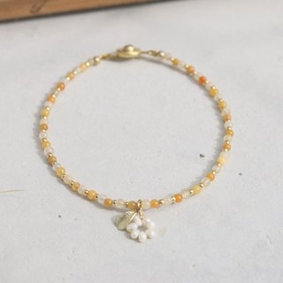 Topaz Pearl Brass Bracelet 0627 - You Are My Good Friend
