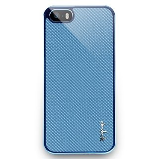 iPhone5 / 5s glass protection back cover - sky blue