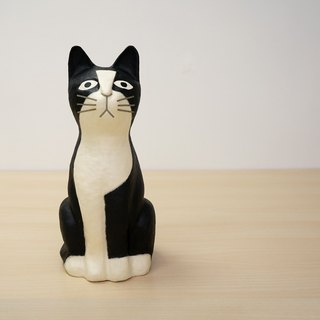 And paper cat - sitting Jiro Dreams (Mercedes / black and white cat) in the full sense of healing to cure small things Japanese handmade furnishings ornaments valentine