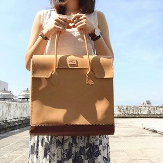 88Tailors full handmade vegetable tanned leather color matching clutch