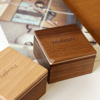 Pre-order - Inclusive - Corner Series / Walnut Wood Ring Box - Squat Classic