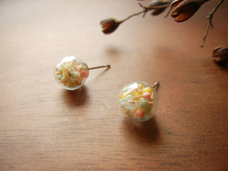 *coucoubird*candy park small earrings / anti-allergic ear acupuncture